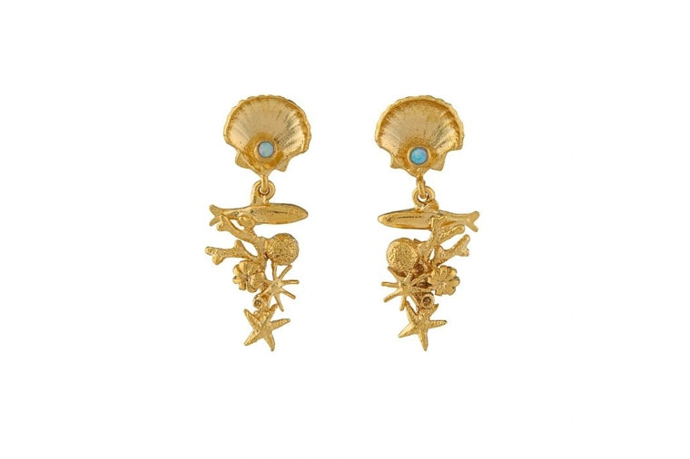 Alex Monroe - Coral Reef Earrings