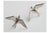 Flying Swallow Stud Earrings - Alex Monroe