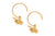 Flying Bee Gold Plated Hoops