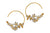 Posy Bee Hoop Earrings - Alex Monroe
