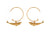 Alex Monroe: Baby Blue Whale Hoop Earrings Gold