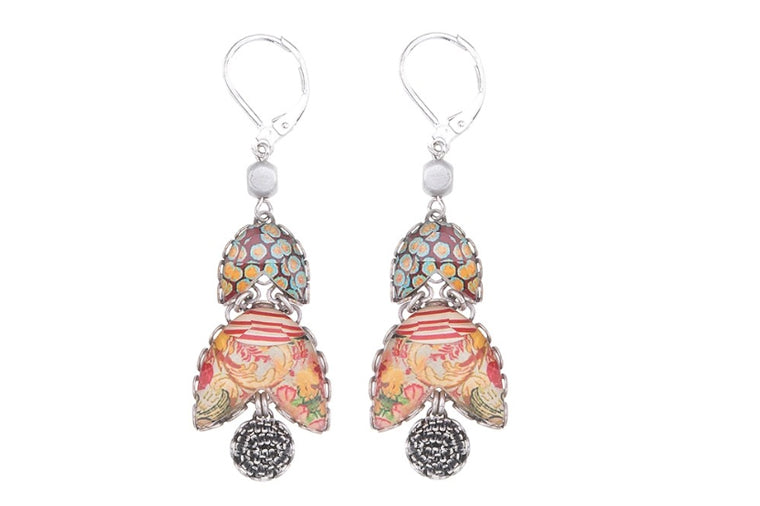Coral Cave Suzane Earrings