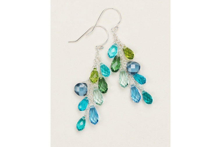 Holly Yashi - Lorelei Cluster Earrings - Aqua