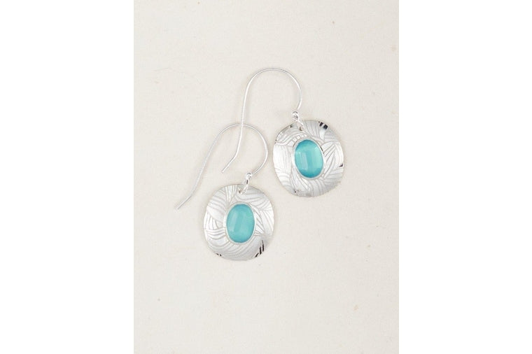 Holly Yashi - Aqua and Silver Earrings