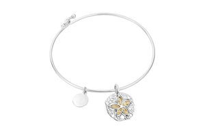 Sand Dollar Bangle - Moonstone - Dune
