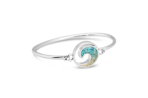 Wave Bracelet - Hawks Nest and Turquoise - Dune