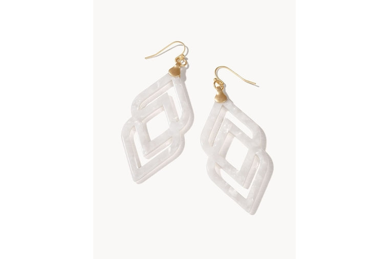 Spartina: White Deco Drama Earrings