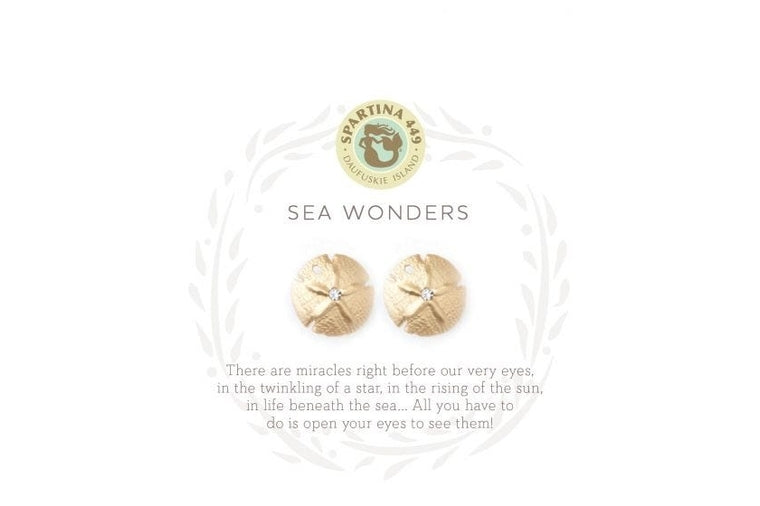 Spartina:  Sand Dollar Earrings