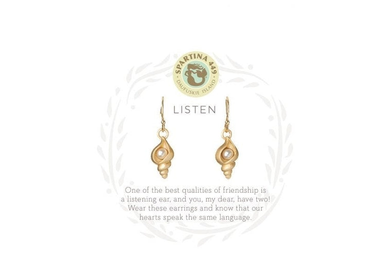 Spartina: Listen Shell Earrings