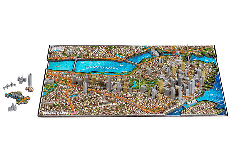 Boston Cityscape 4D Puzzle