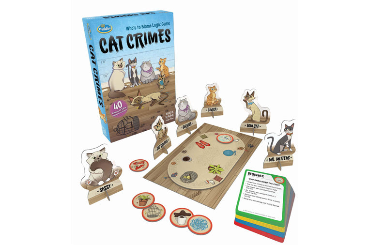 Cat Crimes Logic Puzzle
