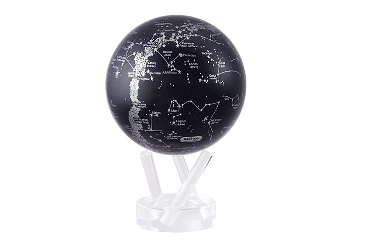 Silver & Black Constellations MOVA Globe