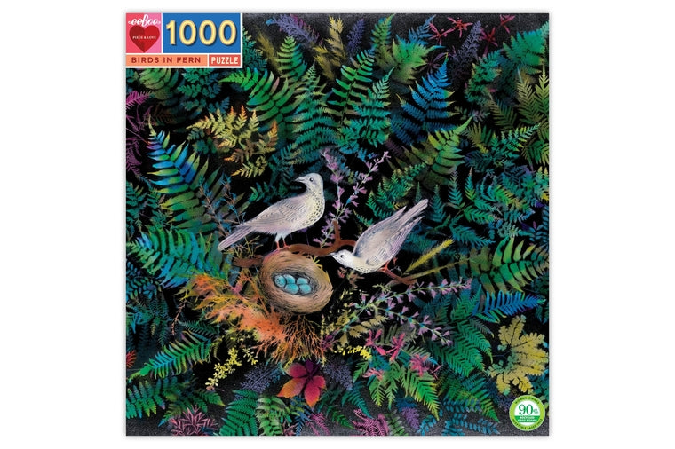 eeBoo - Birds in Fern Puzzle