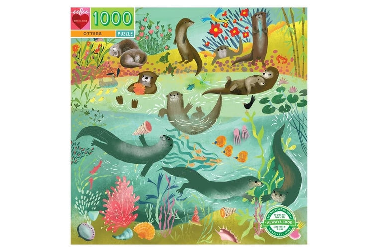 eeBoo - Otters Puzzle - 1000 Pieces