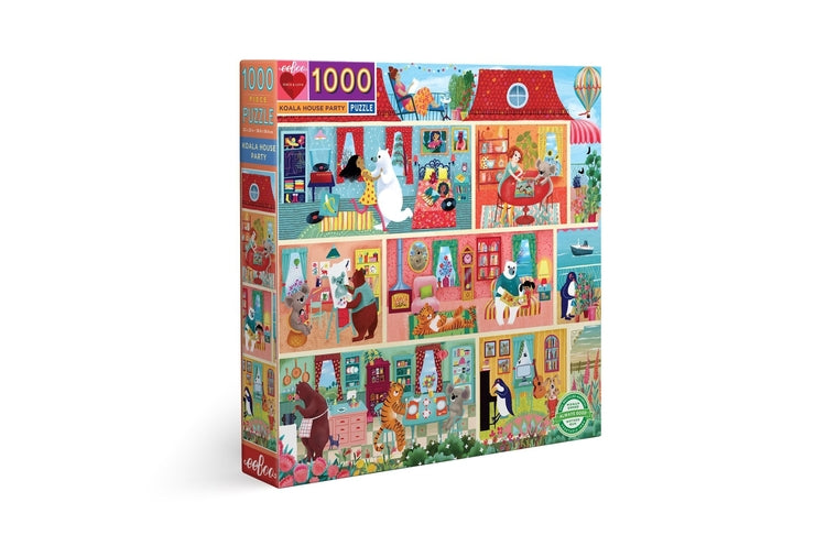 eeBoo - Koala House Party Puzzle - 1000 Pieces