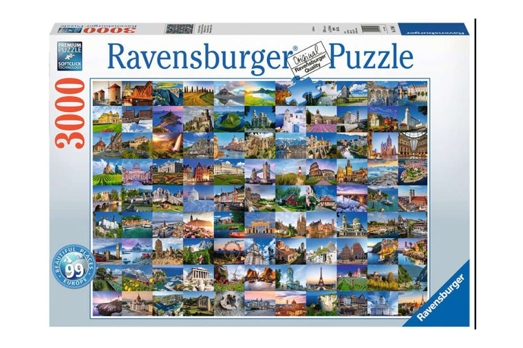 99 Beautiful Places in Europe Puzzle - Ravensburger