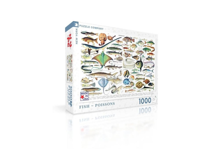Fish Puzzle by the New York Puzzle Company