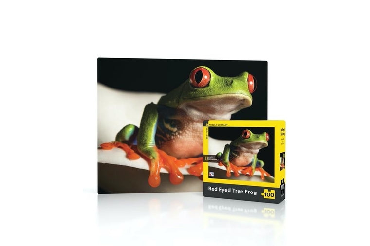 Red Eyed Tree Frog Mini Puzzle, New York Puzzle Company