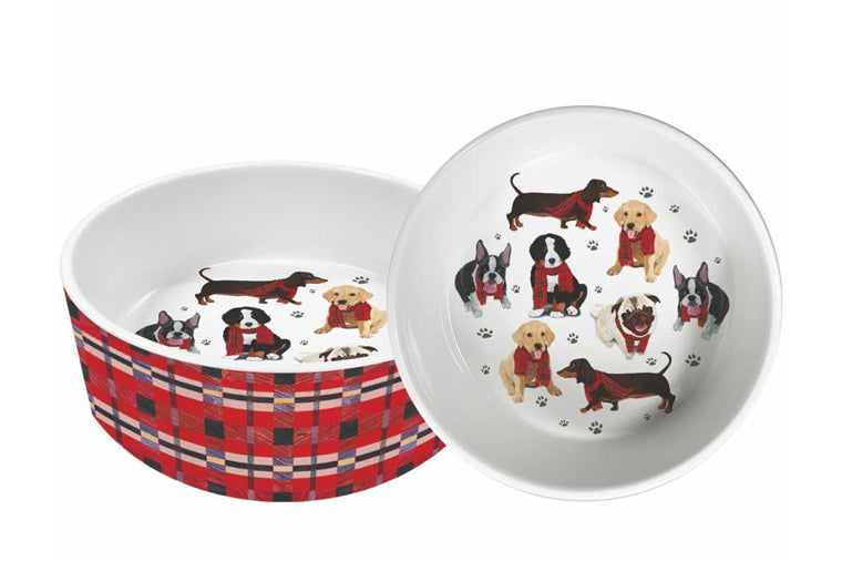 "Bark Bark Gang 8"" Pet Bowl"