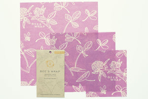 Clover Set of 3 Beeswax Wrappers