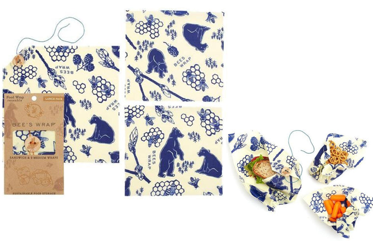 Bees + Bears Lunch Pack Beeswax Wrappers