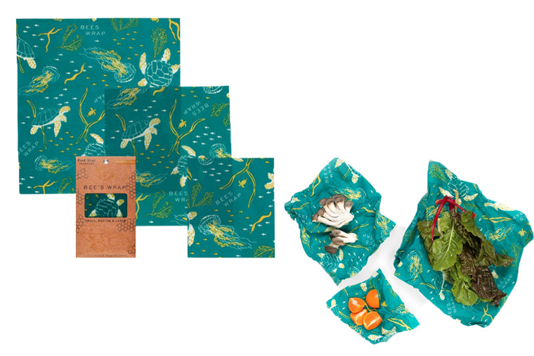 Oceans Print Assorted Beeswax Wrappers