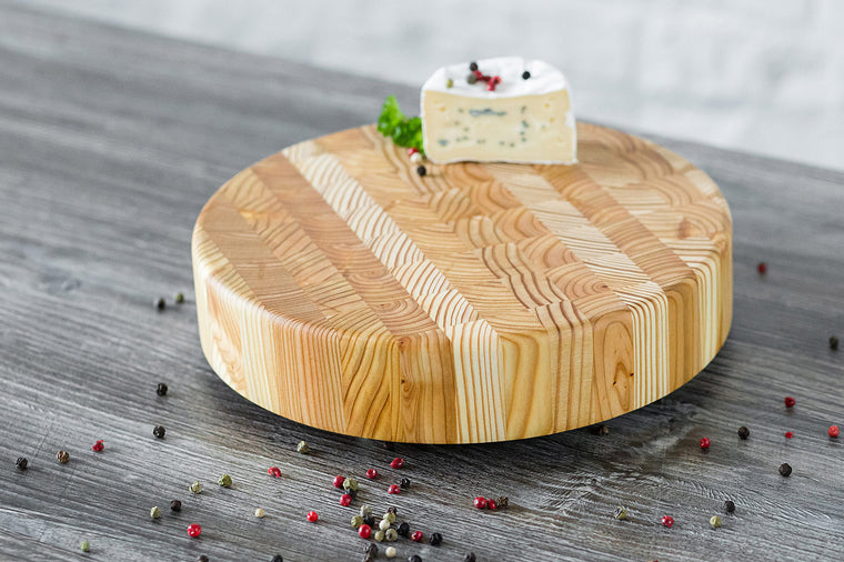 Larch Wood Round Cheese Board