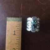 Handmade Sterling Silver Ring with Mini New Lander Signed G Spencer Size 6