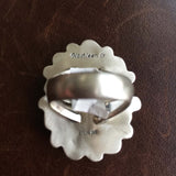 Beautiful Handmade Sterling Silver Desert Lavender Long Flower Ring Size 8