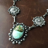 The Tropical Jungle Sterling Handmade Navajo Necklace Royston Turquoise Signed