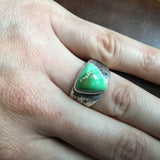 Handmade Carico Lake Turquoise Sterling Siver Ring By Sz 11 Annelise Williamson