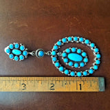 Natural Sleeping Beauty Turquoise Cluster Hoop Dangle Clip Earrings Emma Lincoln