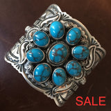 Beautiful Handmade Sterling Egyptian Turquoise Cuff Signed Darrin Livingston Bracelets