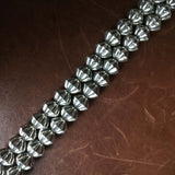 20 Inch Navajo Handmade Scalloped Sterling Silver Navajo Beads Necklace Chain