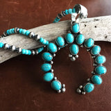 Beautiful Handmade Sterling Campitos Naja with Turquoise and Navajo Bead Chain