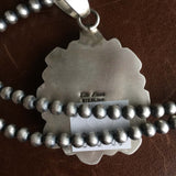 Medium Handmade Sterling Silver Carico Lake Pendant with 5mm Navajo Bead Chain