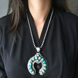 Beautiful Handmade Sterling Silver Carico Lake Naja with 6mm Navajo Bead Chain