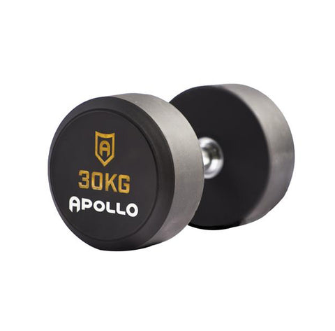 Urethane Round Dumbbells - Apollo Fitness