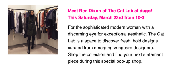 Meet Ren Dixon at dugo