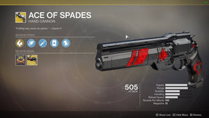 Exotic Quest (Cayde's Will) - Ace of Spades