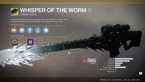 Exotic Sniper - Whisper of the Worm