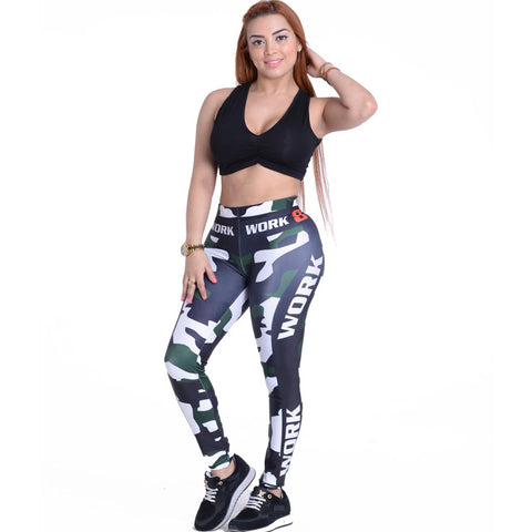 bc292eeae0d Plus Size 3d Printed Sexy Leggings high Waist Sporting Leggings Push Up  Workout Clothes For Women