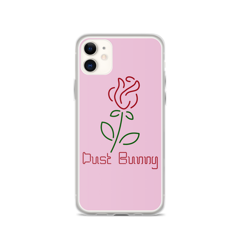 Pink Neon Rose iPhone Case