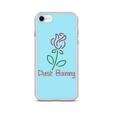 Blue Neon Rose iPhone Case