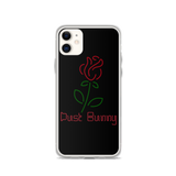 Black Neon Rose iPhone Case