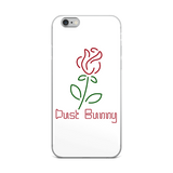 White Neon Rose iPhone Case