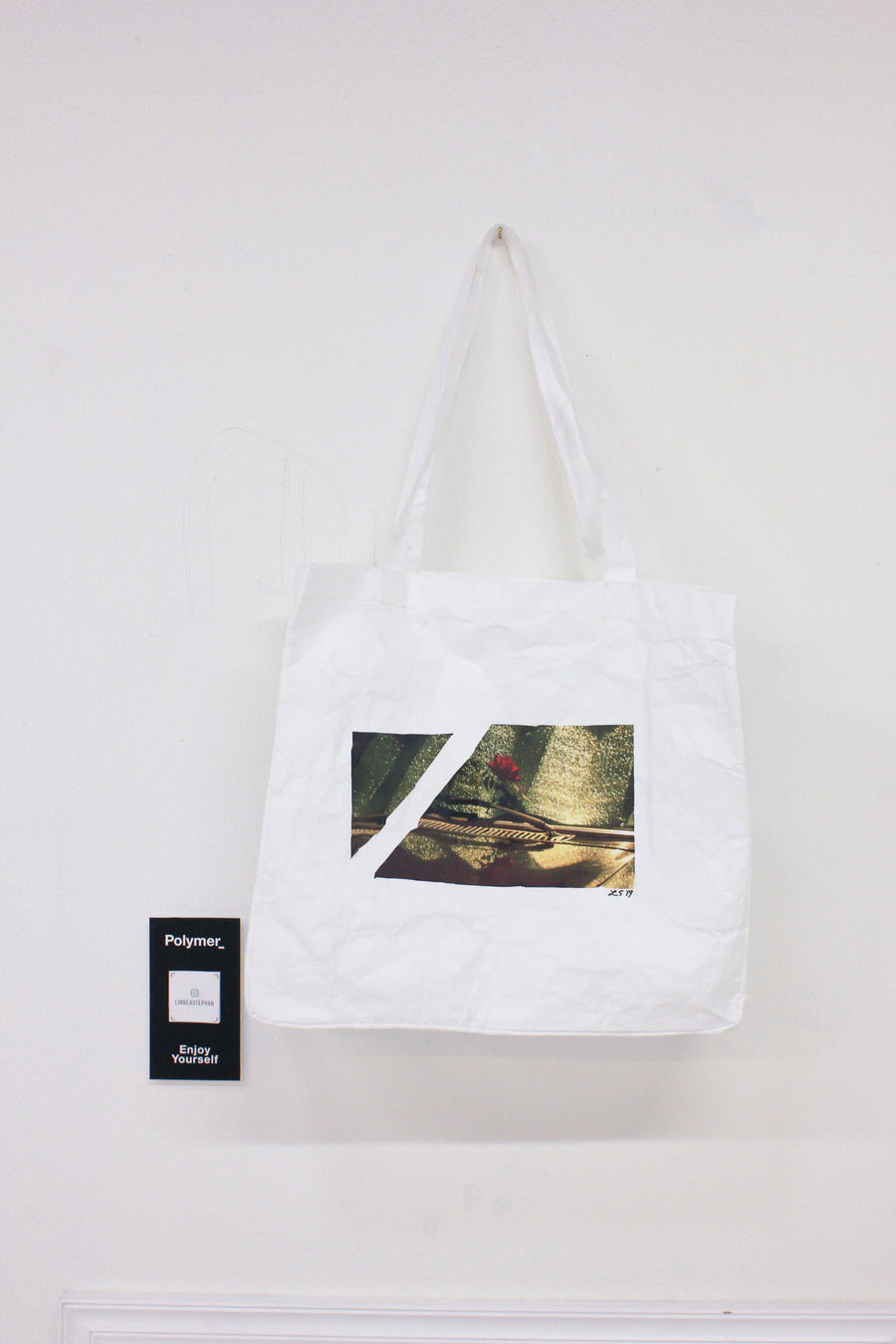 Polymer_ Enjoy Yourself Art Tote by Linnea Stephan