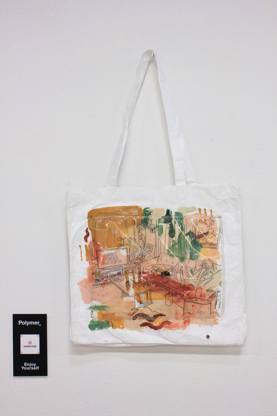 Polymer_ Enjoy Yourself Art Tote by Shaina Turain