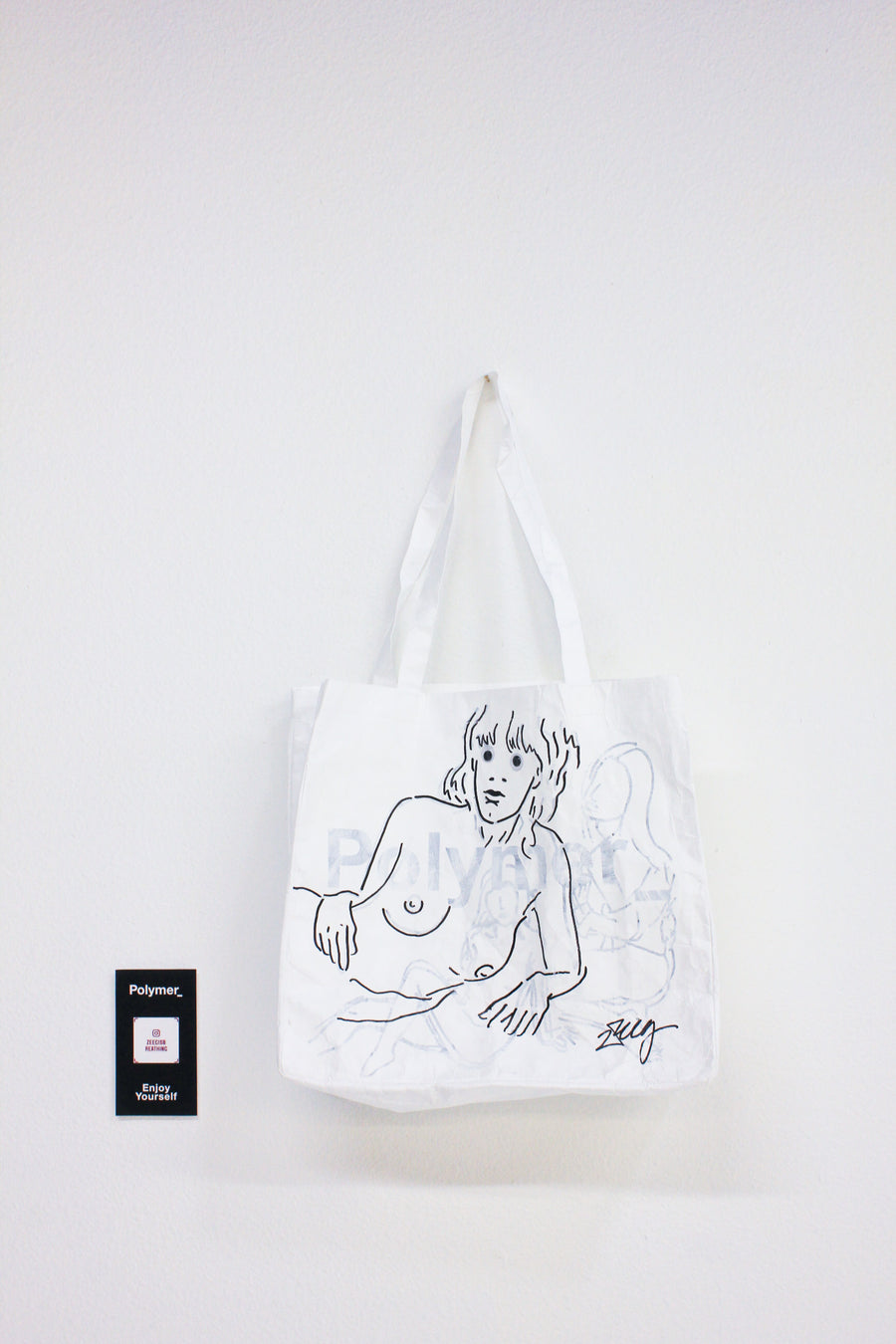Polymer_ Enjoy Yourself Art Tote by Nick Ziegel