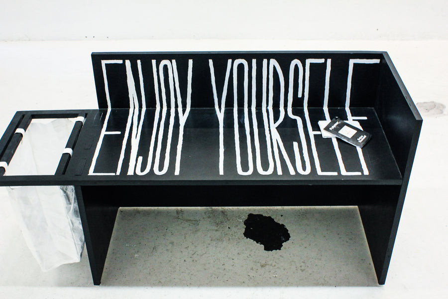 Polymer_ Enjoy Yourself Art Tote by Brandy Wayne